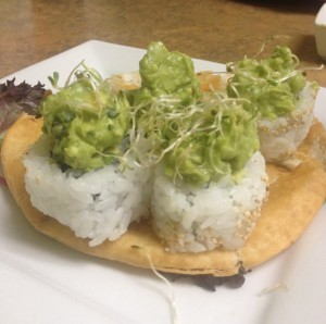Asparagus Guacamole Roll at Mountain Sushi Japanese Restaurant in Eureka Springs