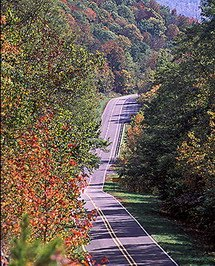 Arkansas Highway 21 on the way to Eureka Springs