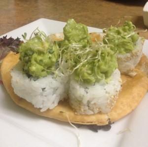 Asparagus Guacamole Roll at Mountain Sushi Japanese Restaurant in Eureka Springs