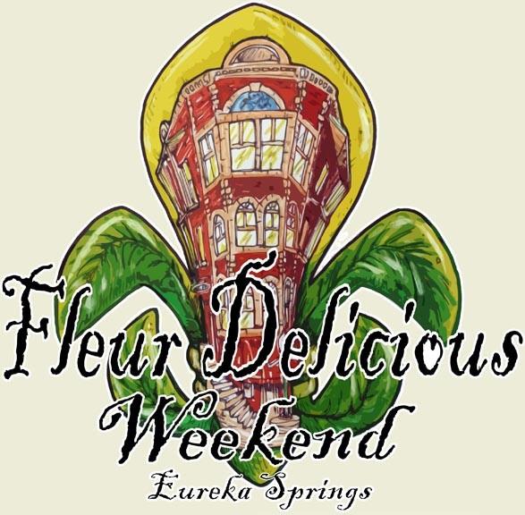Eureka Springs' Fleur Delicious Weekend Logo 2015