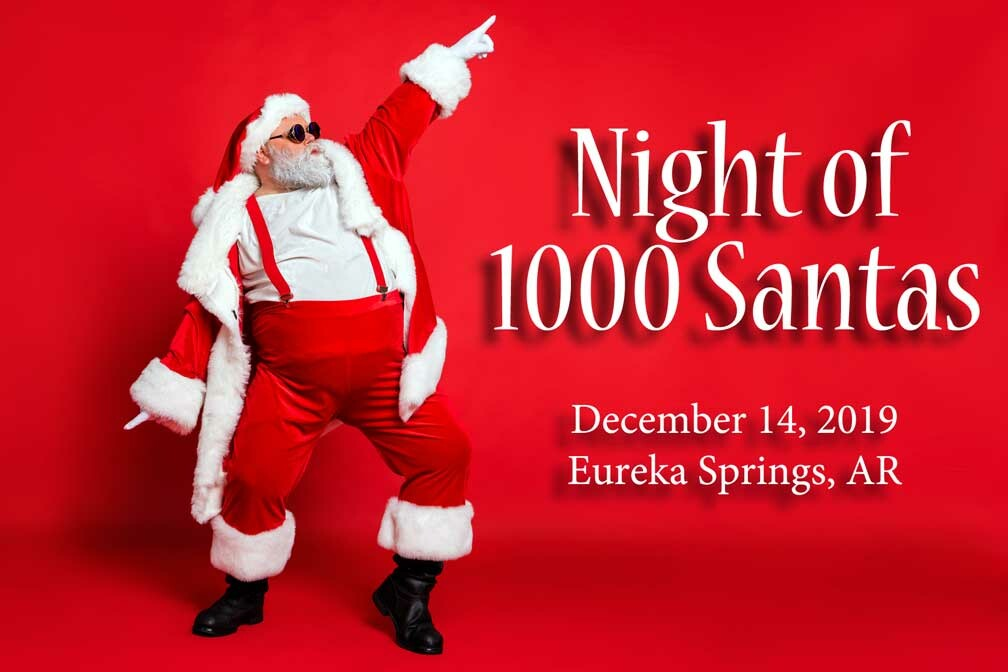 Eureka Springs Night of 1000 Santas