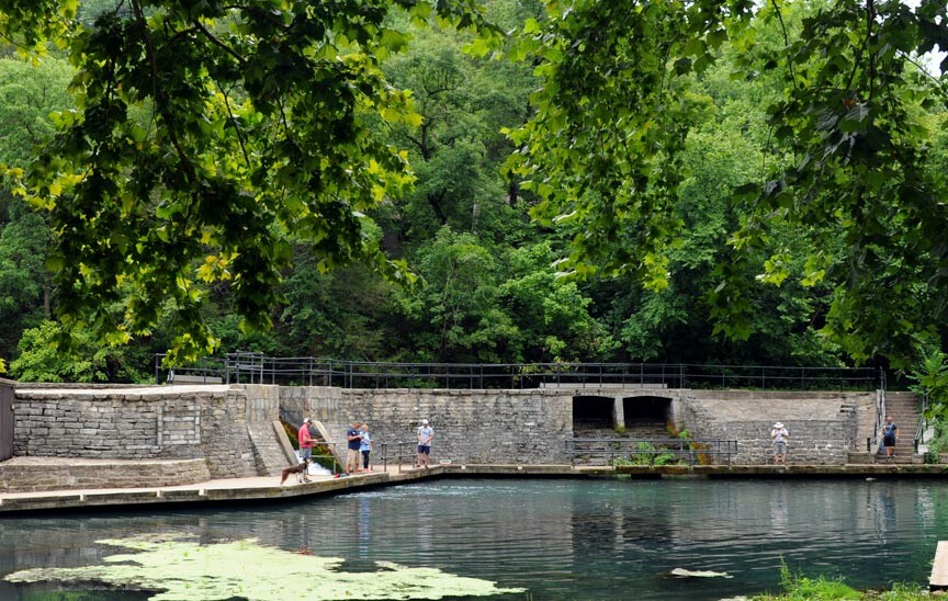 Roaring River State Park Dam and Spillway